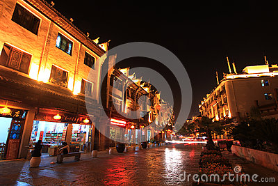 Night view in zhenyuan ancient town in guizhou china Editorial Image