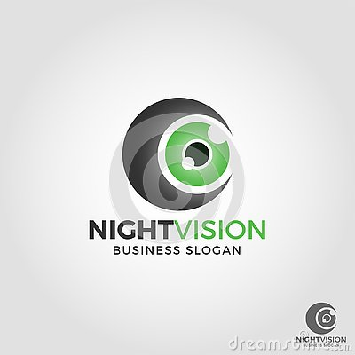 Night Vision Camera logo Vector Illustration