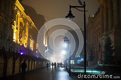 Night walking the city