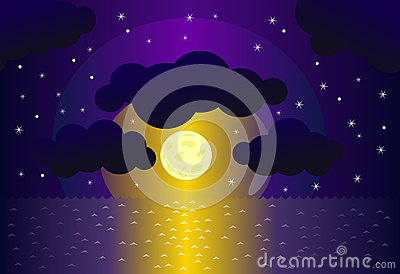 Night and water background
