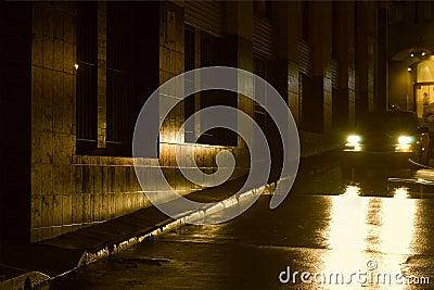 Night - Wet Night in the City