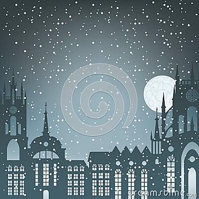 Night winter