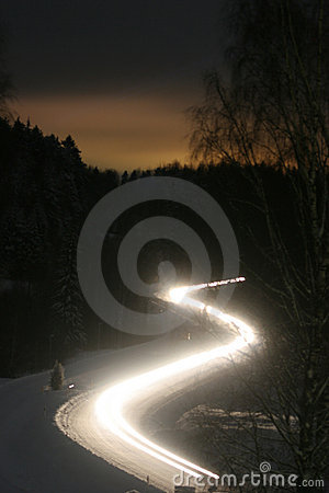 Free Night Winter Road - Blur Stock Photography - 1955152