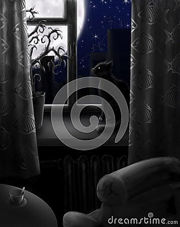 Free Night With No Light Royalty Free Stock Photos - 13745668