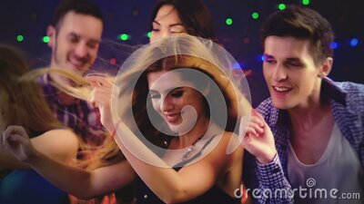 Nightclubs with group dancing holiday people stock footage