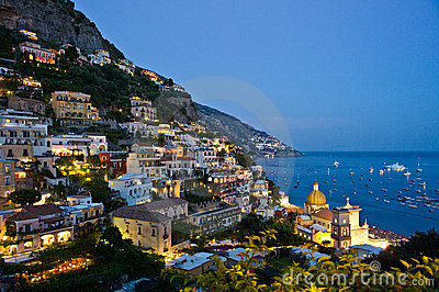 Nightfall in Positano
