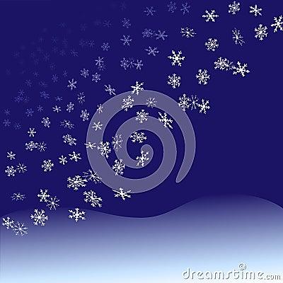 Nightfall Snowflakes Snowfall