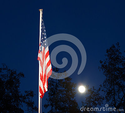 Nightime flag