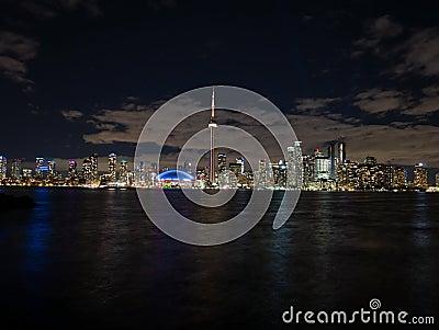 Nightlapse de Toronto de la isla central metrajes