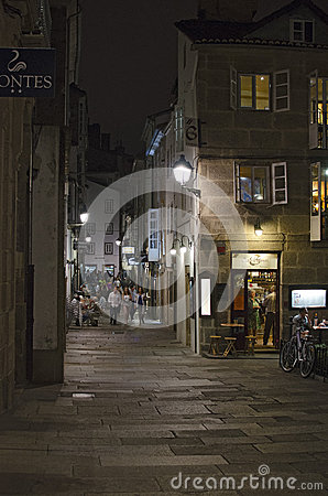 Nightlife in Compostela Editorial Photography