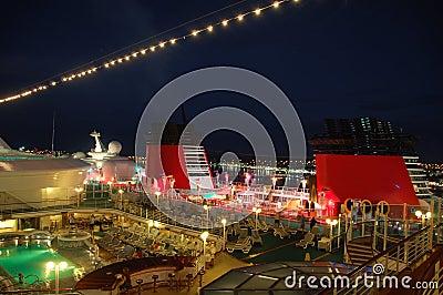 Nightlife on cruise ships