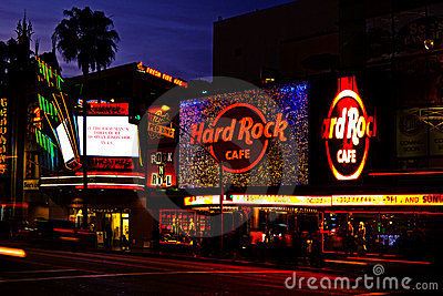Nightlife On Hollywood Boulevard Editorial Image