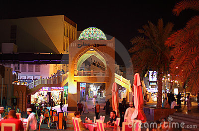 Nightlife in Muttrah, Muscat Oman Editorial Photography