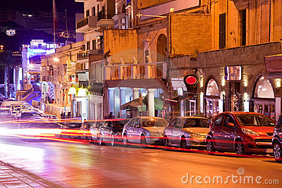 Nightlife in Paceville. Malta