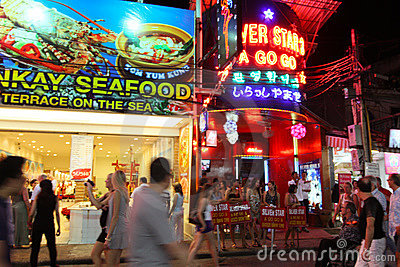 Nightlife in Pattaya, Thailand. Editorial Stock Image