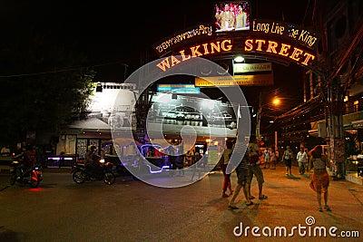 Nightlife in Pattaya, Thailand. Editorial Photography