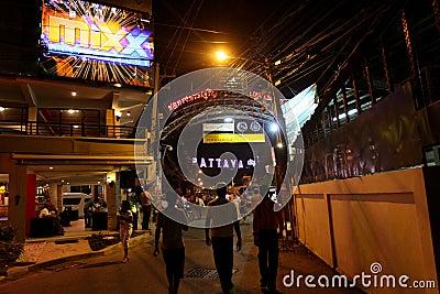 Nightlife in Pattaya, Thailand. Editorial Stock Image
