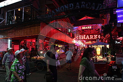 Nightlife in Pattaya, Thailand. Editorial Photo