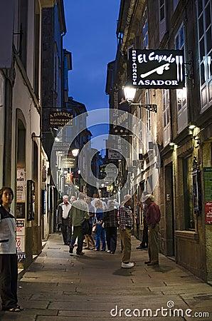 Nightlife in Santiago Editorial Photography