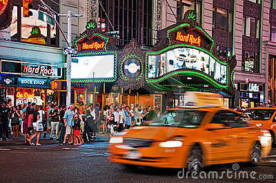 Nightlife on the streets of New York Editorial Image