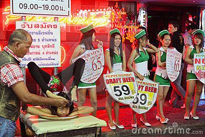 Nightlife on Walking Street in Pattaya Editorial Photography