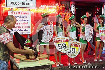 Nightlife on Walking Street in Pattaya Editorial Photography