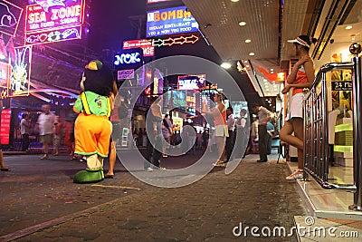 Nightlife at Walking Street Pattaya Thailand Editorial Stock Image