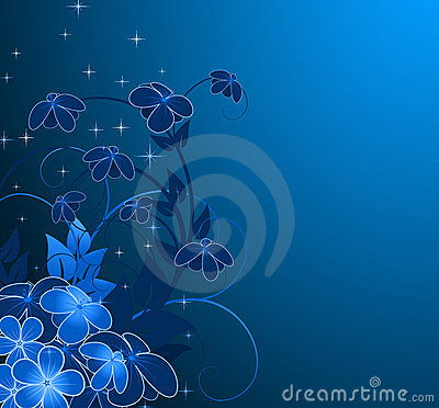 Nightly floral background