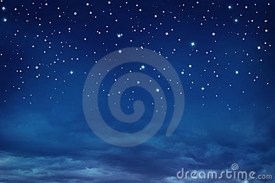 Nightly sky with stars