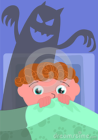 Nightmare in bedroom vector Vector Illustration
