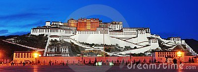 Nightscene of Potala palace