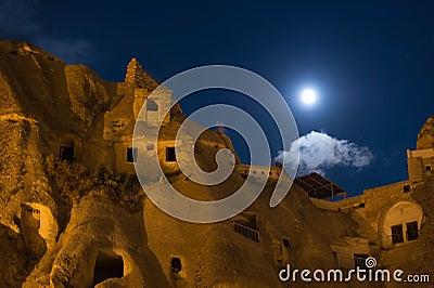 Nightshot of goreme cappadocia
