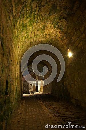 Nighttime Archway to Kuressaare Castle Yard