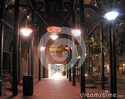 Nighttime Sidewalk