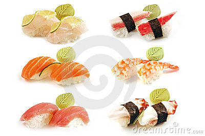 Nigiri Pair of Sushi Composition