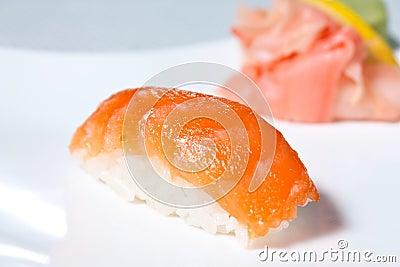 Nigiri Sushi with Salmon