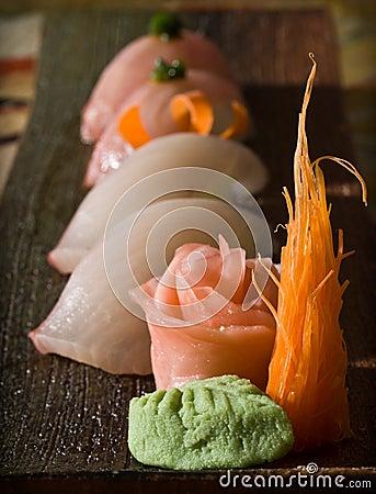 Nigiri sushi sampler plate