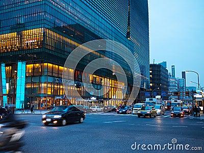 Nihonbashi CBD in tokyo Editorial Stock Photo