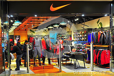 Nike store or outlet  hong kong Editorial Image