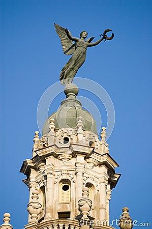 Nike Victory statue, Havana Gran Teatro, Cuba