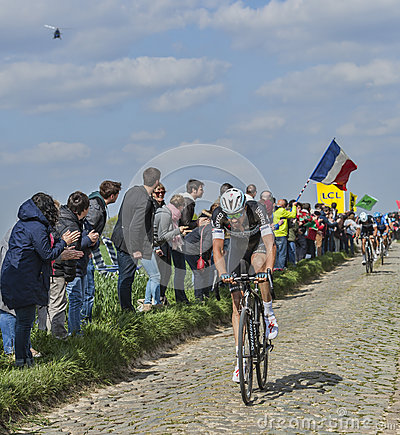 Niki Terpstra the Winner of Paris-Roubaix 2014 Editorial Image