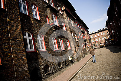 Nikiszowiec, historical, coal mining district of K Editorial Stock Image