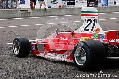 Nikki Lauda s Ferrari Editorial Stock Photo