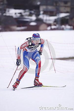 Nikolay Bolotov - cross country skier Editorial Photo