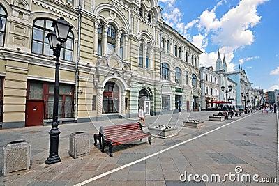Nikolskaya street, Moscow Editorial Stock Image