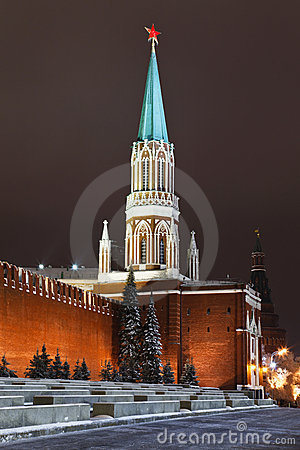 Nikolskaya tower of Moscow Kremlin, Russia