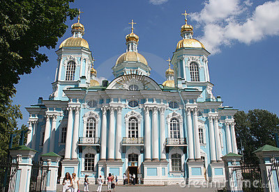 Nikolsky marine cathedral, St.Petersburg, Russia Editorial Image