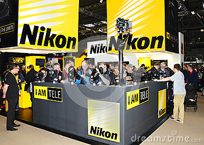 Nikon display stand Editorial Photography