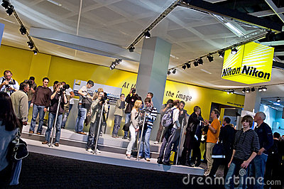 Nikon exhibition equipment people Editorial Photography