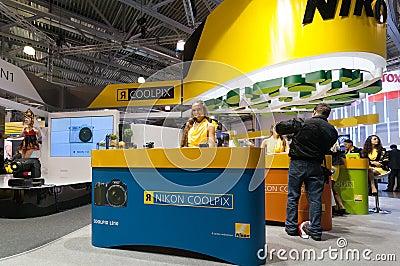 Nikon stand Editorial Photo